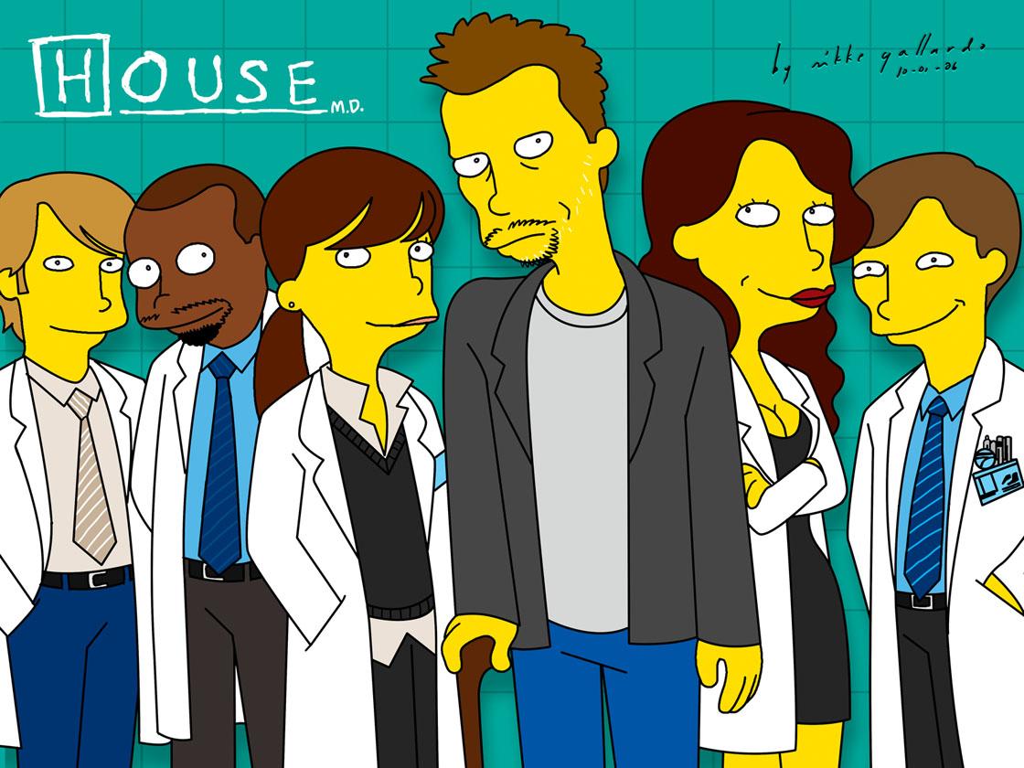 Series de TV House_m_d__simpsonified_by_mikkegallardo